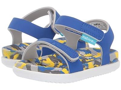 Native Kids Shoes Charley (Toddler/Little Kid) (UV Blue/Konpeito/Shell White) Kids Shoes