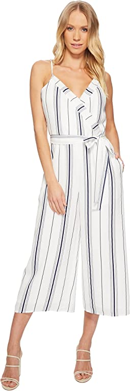 Double V-Neck Cropped Jumpsuit