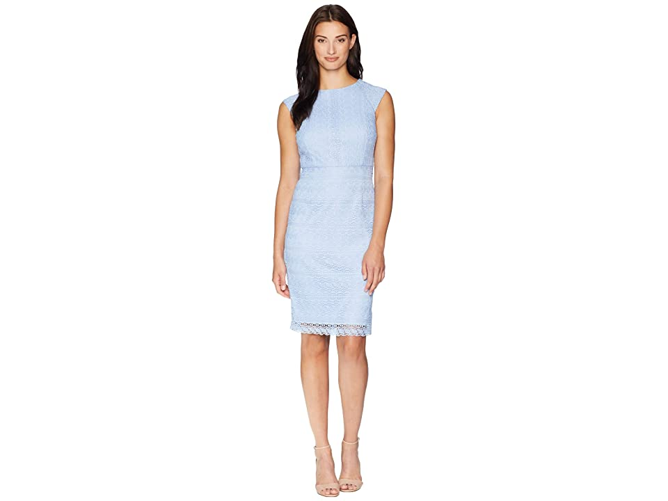 Tahari by ASL Chemical Lace Sheath Dress (Periwinkle) Women