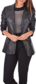 LL Leather Lovers Women's Lambskin Leather Motorcycle Biker Jacket Coat - Winter Wear - Extremely Soft & Smooth BLACK_SCOA...