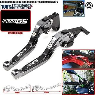 Motorcycle Adjustable Folding Extendable Brake Clutch Lever For BMW F650GS F650 GS Dakar 650GS 2003-2007 LOGO
