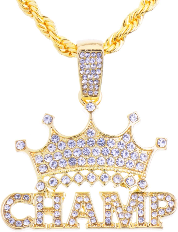 metaltree98 Hip Hop King Crown Champ Iced Bling Pendant HC 1292 G(20