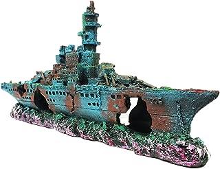 SLOCME Aquarium Shipwreck Decorations Fish Tank Ornaments – Resin Material Sunken..