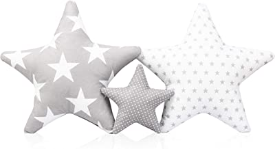 3-pack kudde set stjärna stjärna dekorationskudde ca 60 cm/28 cm barnrum dekoration stjärnkudde baby dekorationskudde med ...