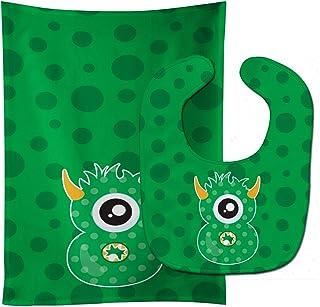 Caroline's Treasures Monster Month 8 Baby Bib & Burp Cloth, Multicolor, Large