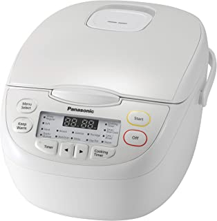 Panasonic 5-Cup Rice Cooker, White (SR-CN108WST)