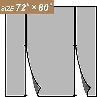Magnetic Screen Door 72 x 80, Double Door Screen Curtain for Sliding Door Fit Doors Size Up to 72