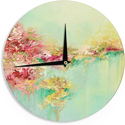 12 Kess InHouse Iris Lehnhardt Rusty Teal Green Blue Wall Clock
