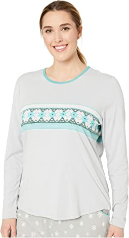 Plus Size Nordic Border Long Sleeve Shirt