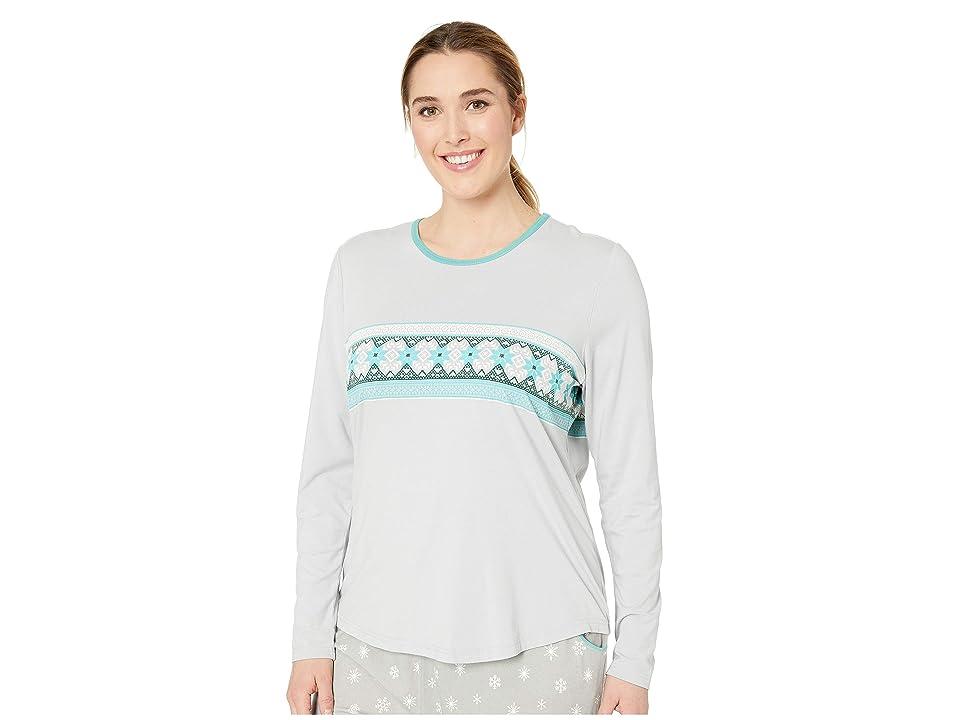 Aventura Clothing Plus Size Nordic Border Long Sleeve Shirt (High-Rise) Women