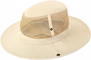 Men's Wide Brim Packable Sun Hat Summer Hat Bucket Safari Cap Perfect for Fishing Gardening Hiking Camping Outdoor