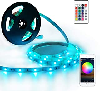 YIHONG LED Strip Lights Compatible with Alexa Google Home 33ft 300LEDs RGB WiFi LED Light Strip