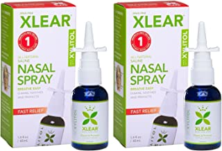 XLEAR Nasal Spray (Pack of 2) with Xylitol, Saline, Purified Water and Grapefruit Seed Extract, for Optimal Health to Clea...