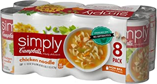 Campbell's Simply Chicken Noodle Soup (18.6 oz. can, 8 pk.) (pack of 2)