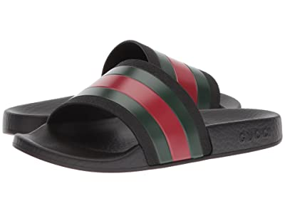 Gucci Kids Pursuit Slide (Little Kid) (Nero/V.R.V) Kids Shoes