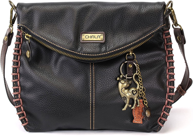 Chala Charming Crossbody Bag with Cat  Black