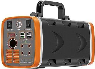 HLDUYIN Generador de energía portátil de 500W 78000mAh 288WH con luz LED, generador de batería con Tomas USB AC DC e Interfaz de Carga Solar