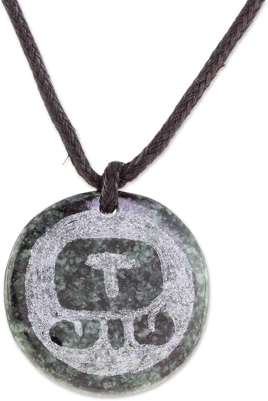 NOVICA Jade List price Pendant Mesa Mall Necklace Iq Medallion' 20