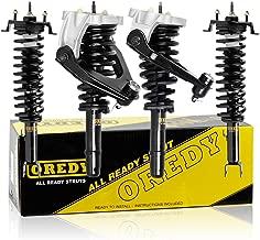 OREDY Full Set of 4 Front & Rear Complete Struts Assembly Shock Coil Spring Assembly Kit 271311 11651 15340 Compatible with Dodge Stratus Sedan/Chrysler Sebring Sedan 2001 2002 2003 2004 2005 2006