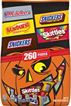 SNICKERS Original, SNICKERS Crunchy Peanut Butter, 3 MUSKETEERS, STARBURST, & SKITTLES Halloween Candy Mix, 82.05 oz. 260-...