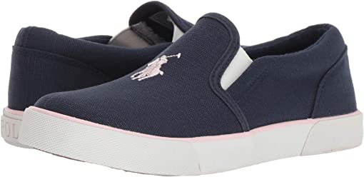 Navy Canvas/Light Pink PP