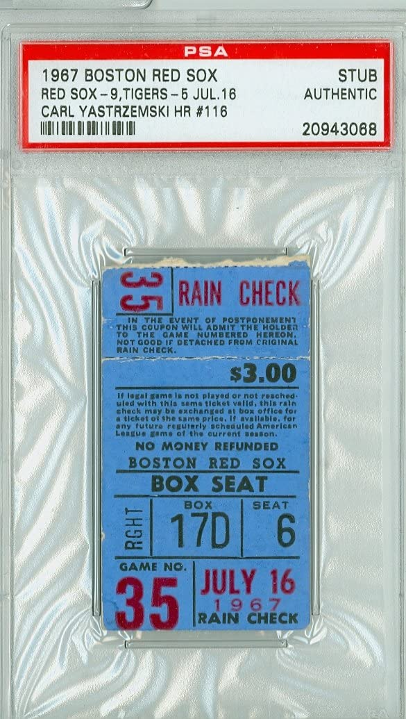 1967 Red Sox - Impossible Dream vs Max 40% OFF AL Detroit Discount is also underway Ticket Stub Champs