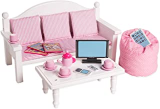 Sponsored Ad - Playtime by Eimmie 18 Inch Doll Furniture - Sofa & Coffee Table w/ Doll Accessories