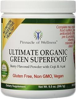 Pinnacle of Wellness Ultimate Organic Green Superfood Powder - Berry Flavor - 30 Servings 9.5oz (266.1g)