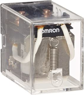 Omron LY2-AC110/120 General Purpose Relay, Standard Type, Plug-In/Solder Terminal, Standard Bracket Mounting, Single Contact, Double Pole Double Throw Contacts, 9.9 to 10.8 mA at 50 Hz and 8.4 to 9.2 mA at 60 Hz Rated Load Current, 110 to 120 VAC Rated Load Voltage
