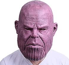 Thanos Mask Cosplay Thanos Helmet Latex Costume Halloween Party Purple