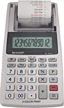 $40 » Sharp EL-1611V Handheld Portable Cordless 12 Digit Large LCD Display Two-Color Printing Calculator with Tax Functions (Renewed)