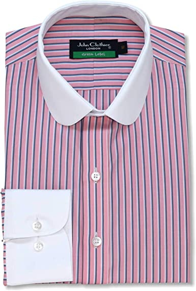 Camisa para hombre, diseño de rayas, color rosa y azul, 100 ...