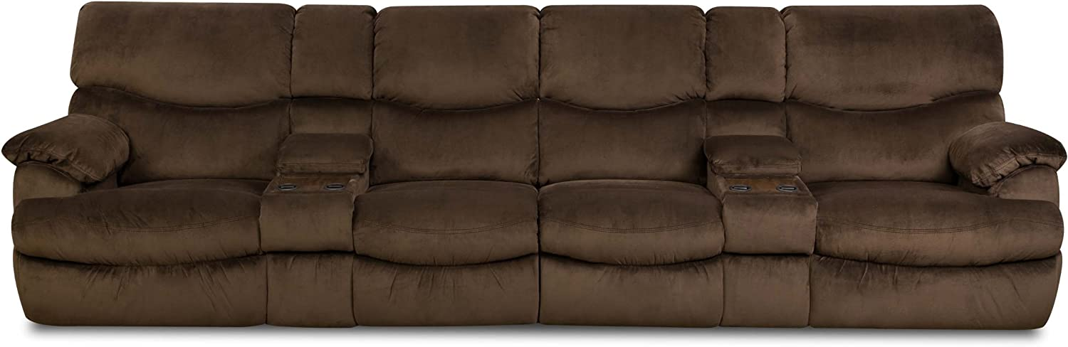 Comfort Eze by Franklin Kensington Left Arm Loveseat for Sectional Sofa, Chocolate