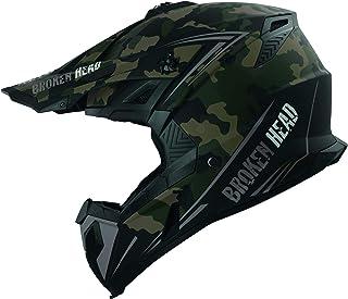 Broken Head Squadron Rebelution Camouflage Sand-Titan Cross-Helm - MX Motocross Helm - Quad-Helm - Sumo-Helm S 55-56 cm