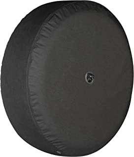 Boomerang - 32 Soft JL Tire Cover for Jeep Wrangler JL (with Back-up Camera) - Sport & Sahara (2018-2020) - Black Denim Vinyl - Integrated Camera Hood
