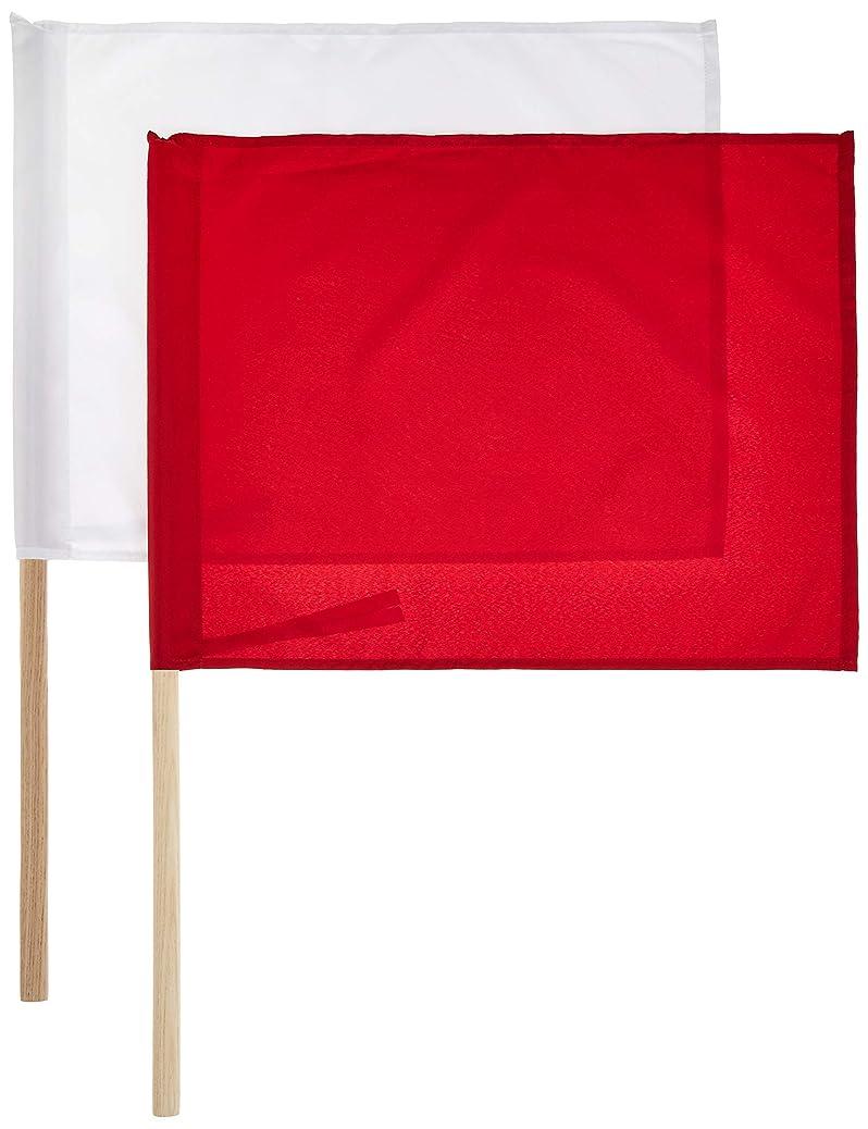 テロリストサッカー五月シンワ測定 工事用 旗 ナイロン製 2本組 76909
