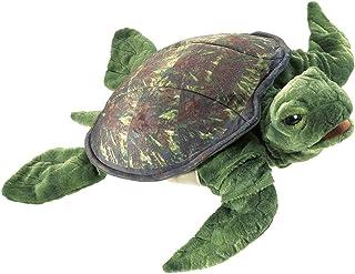 Folkmanis Sea Turtle Hand Puppet, Green
