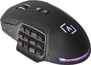 AIM - Ratón Gaming Profesional, (10000 dpi,Sensor óptico Avago Pro,17 Botones mecánicos programables OMROM, DNA RGB config...