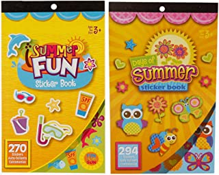 and Poolside Sticker Books Beach Over 1,000 Stickers Summer Fun