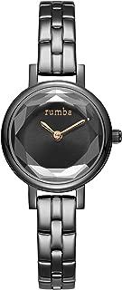 RumbaTime Women's 'Venice' Quartz Stainless Steel Casual Watch, Color:Black (Model: 27471)