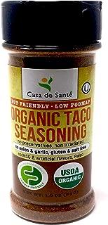 Organic Paleo Seasoning, Healthy Low FODMAP Spices (Taco Seasoning) No Onion No Garlic, Gluten Free, No Salt, No Carb, Keto, Paleo, Whole30, Kosher, All Natural, Non GMO, Non Irradiated- Casa de Sante