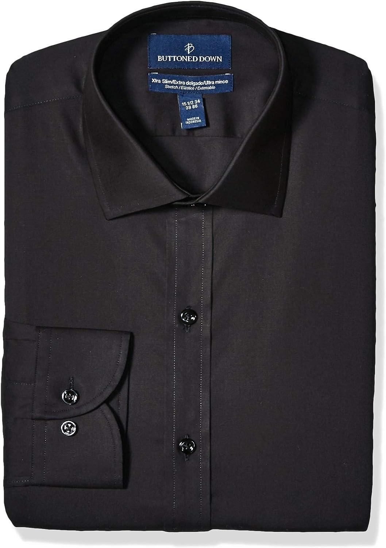 Buttoned 価格 交渉 送料無料 Down Men's Xtra-Slim Fit Su Poplin Dress 超歓迎された Stretch Shirt