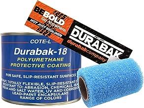 Durabak Black Textured, Outdoor, UV Resistant, Truck Bed Liner Quart KIT - Roll On Coating | DIY Custom Coat for Bedliner and Undercoating, Auto Body, Automotive Rust Proofing, Boat Repair