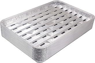 Unifit 20 Pack Disposable Aluminum Foil Grill Pans – 13.4 x 9 x 1.1 Inch Food Trays