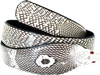 Authentic Snake Skin Men's Genuine Cobra Leather W/Real Head Belt