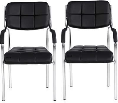 msr 67 Office Visitor Chair with Handle Set of 2 Black