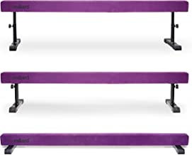 Milliard Adjustable Balance Beam, High and Low (8 Feet) Floor Beam Suede Gymnastics Competition Style Training with Legs