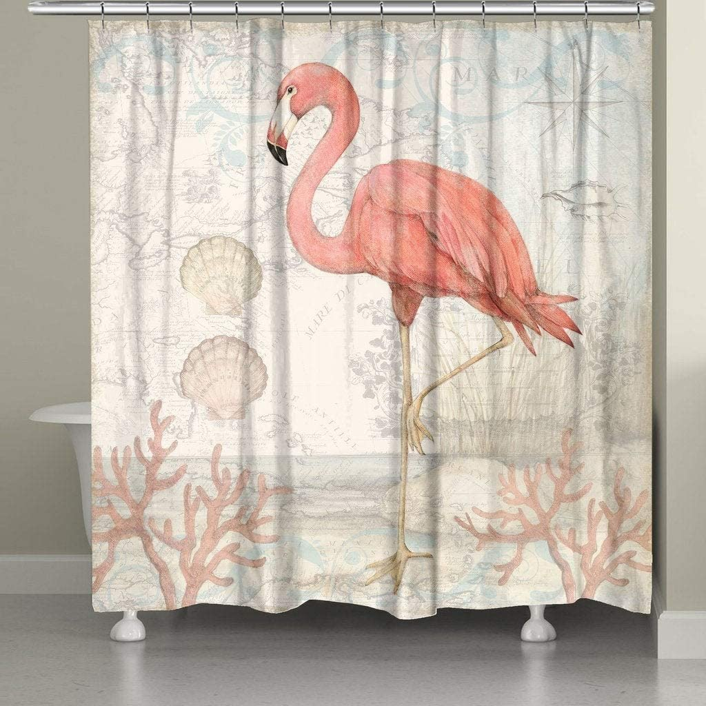 Laural Tampa Mall Home Flamingo Shower service Curtain