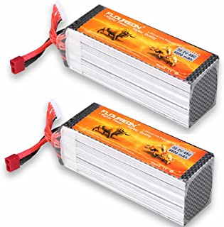 FLOUREON 6S 22.2V 45C Lipo Battery Pack with Deans T Plug for RC Evader BX Car, RC Truck, RC Truggy RC Airplane UAV Drone FPV (4500mAh)