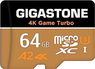 【Nintendo Switch対応】Gigastone 64GB マイクロSDカード A2 4K Game Turbo 最大読み書きスピード 95/35 MB/s Ultra HD 4K撮影 micro sd カード UHS-I U3 Cla...